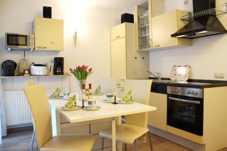 Küche Ferienwohnung Sonnenburg Kühlungsborn