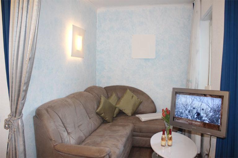 Wohnzimmer Ferienwohnung Sonnenburg Kühlungsborn